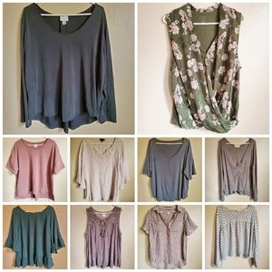 10 Piece Womens XL and 2XL Tops Bundle